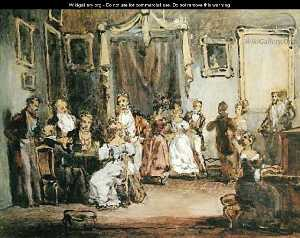 Henri Bonaventure Monnier - An Evening At The House Of Mad..