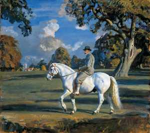 Alfred James Munnings - King George V Riding His ..