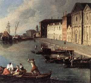 Johann Richter - View Of The Giudecca Cana..