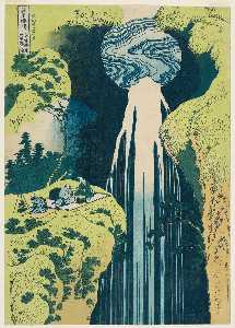 Katsushika Hokusai - The Amida Falls In The Fa..