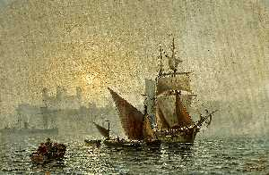 Charles John De Lacy - Mist In Port, London