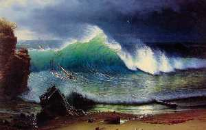 Albert Bierstadt - The Shore of the Turquois..