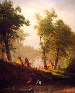 Albert Bierstadt - the wolf river