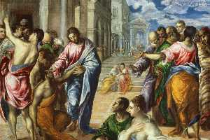 El Greco (Doménikos Theotokopoulos) - The Miracle of Christ Healing the Blind