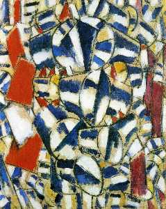 Fernand Leger - Contrasted forms - -