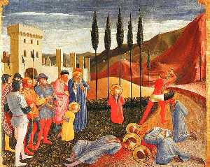Fra Angelico - Decapitation of Saints Cosmas ^ Damian