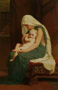 Frederick Goodall - Mother and Child