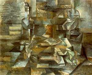 Georges Braque - Bottle and Fishes