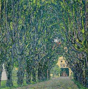 Gustav Klimt - Alley in the park of the palace Cummer