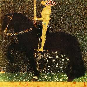 Gustav Klimt - Life is a Struggle (The Golden Knight)