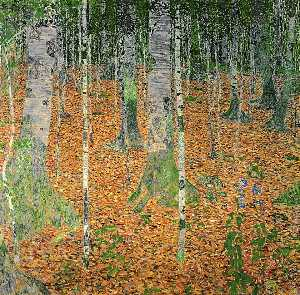 Gustav Klimt - The Birch Wood (Birkenwald)