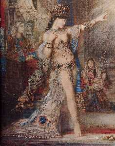 Gustave Moreau - the apparition (detail)
