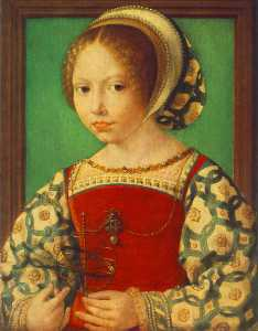 Jan Gossaert (Mabuse) - Young Girl with Astronomi..