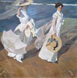 Joaquin Sorolla Y Bastida - Walk on the Beach (Paseo ..