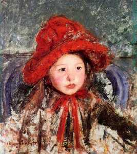 Mary Stevenson Cassatt - Little Girl in a Large Re..