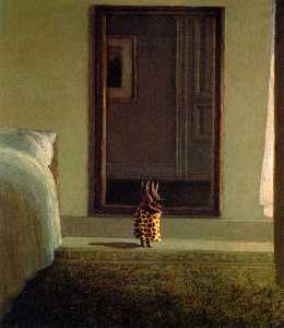 Michael Sowa - rabbit in front of the mirror