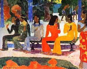 Paul Gauguin - The market Sun