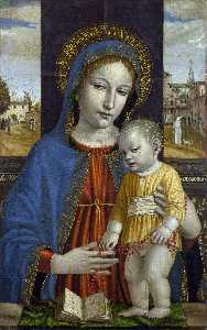 Ambrogio Da Fossano (Ambrogio Bergognone) - The Virgin and Child