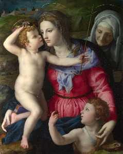 Agnolo Bronzino - The Madonna and Child with Saints