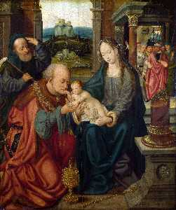 Joos Van Cleve - The Adoration of the King..
