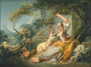Jean-Honoré Fragonard - Shepherdess