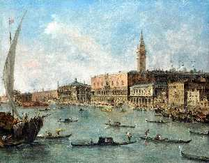 Francesco Lazzaro Guardi - The Doge's Palace and the..