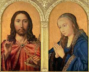 Quentin Massys - Diptych - Christ and the Virgi..