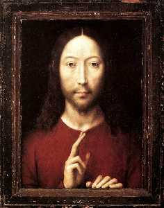 Hans Memling - late - Christ Giving His ..
