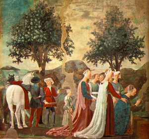 Piero Della Francesca - Adoration of the Holy Wood (left view)