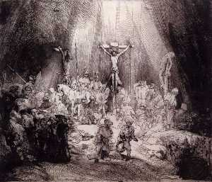 Rembrandt Van Rijn - The Three Crosses (first state..
