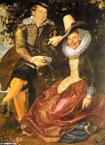 Peter Paul Rubens - with his First Wife, Isabella Brandt, in the Honeysuckle Bower