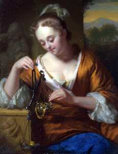 Godfried Schalcken - Allegory of Virtue and Ri..