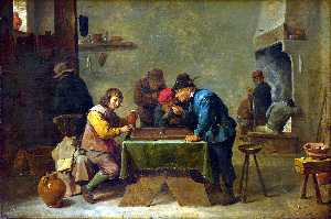 David The Younger Teniers - Backgammon players