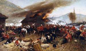 Alphonse Marie Adolphe De Neuv.. - The defence of rorkes drift