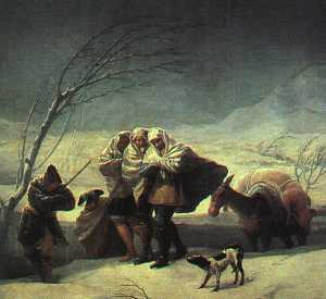 Francisco De Goya - Winter The Snowstorm