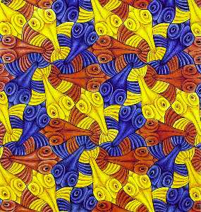 Maurits Cornelis Escher - Watercolor 55 Fish