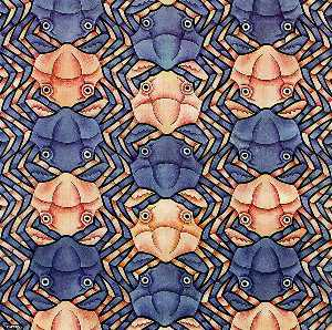 Maurits Cornelis Escher - Watercolor 117 Crab