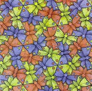 Maurits Cornelis Escher - Watercolor 70 Butterfly