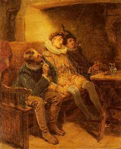 Ralph Hedley - His first smoke