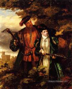 William Powell Frith - Henry VIII And Anne Boley..