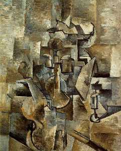Georges Braque - Violin and candlestick, S..