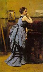Jean Baptiste Camille Corot - Lady in blue, Musee du Louvre, Paris
