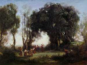 Jean Baptiste Camille Corot - Morning, the Dance of the Nymphs, ca Louvre