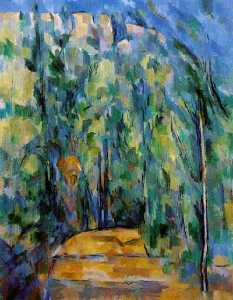 Paul Cezanne - Bend in forest-road,1902-06, collection dr. ruth bak