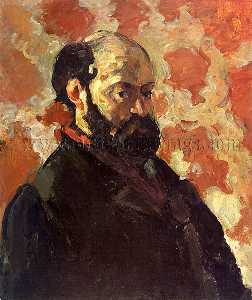Paul Cezanne - Self-portrait on a rose background, galerie