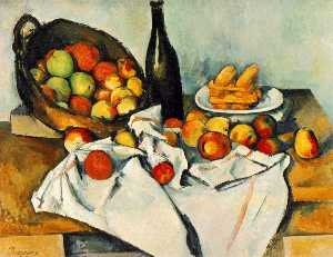 Paul Cezanne - Still life with basket of..