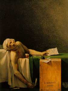 Jacques Louis David - Death of Marat, Musees Ro..