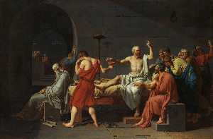 Jacques Louis David - The Death of Socrates, Me..