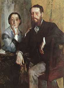 Edgar Degas - The Duke and Duchess Morbilli, approx. oil on ca