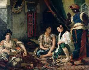Eugène Delacroix - Algerian Women in Their A..